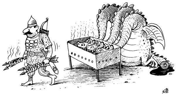 Прикольные рисунки про шашлык, надписью вопросы